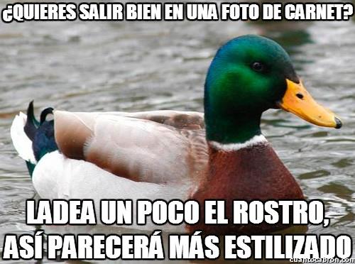 Pato_consejero - Truco para las fotos de carnet