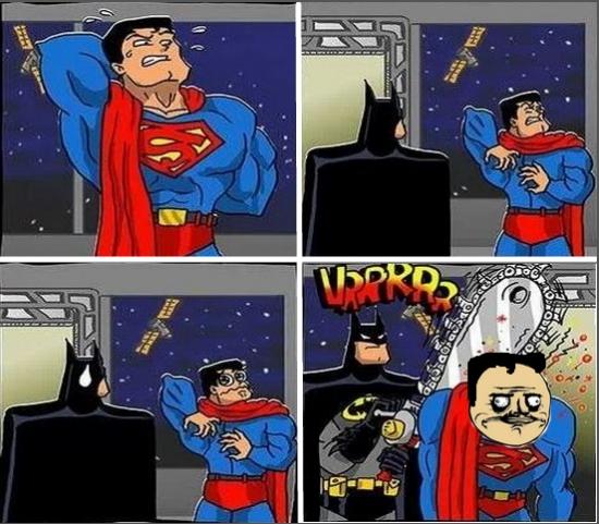 batman,espalda,rascar,sierra eléctrica,superman