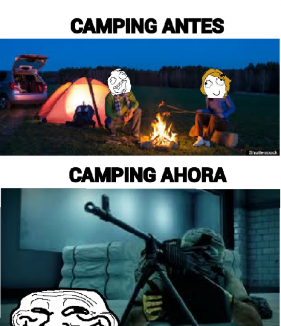 Trollface - Ir de ''camping''