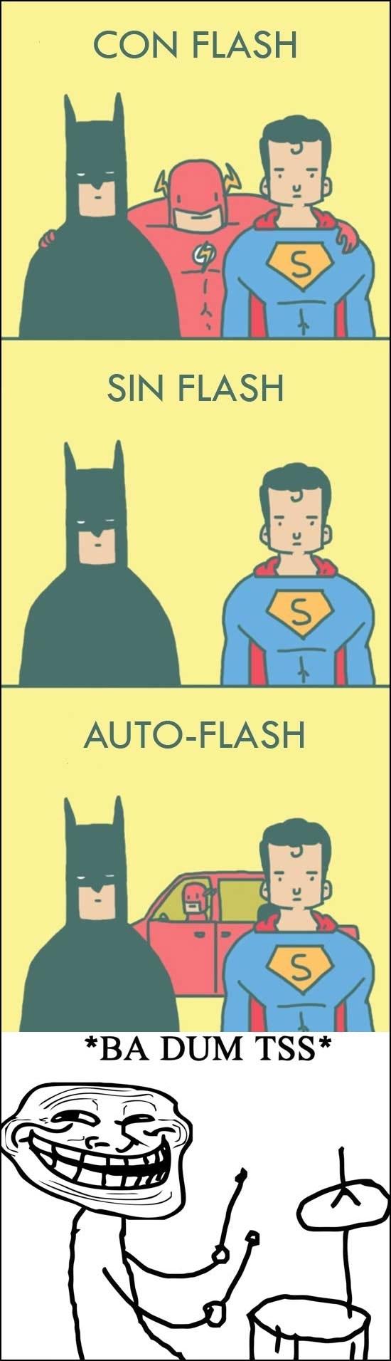 Trollface - Fotos con flash
