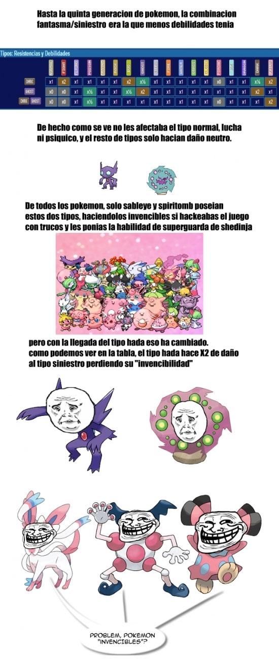 Otros - Pobres Pokémon con combinación siniestro/fantasma