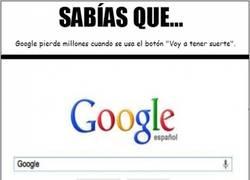 Enlace a El drama del botón ''Voy a tener suerte'' de Google