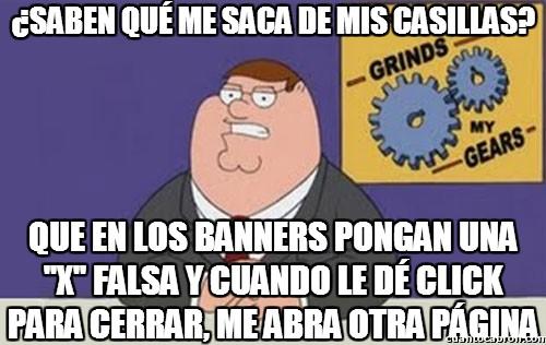 Anuncios,Banners,Casillas,Página,Peter Griffin,Troll,X Falsa