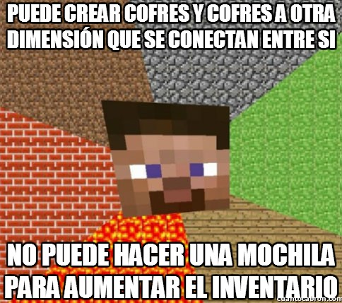 Minecraft - Cofres dimensionales pero mochilas no