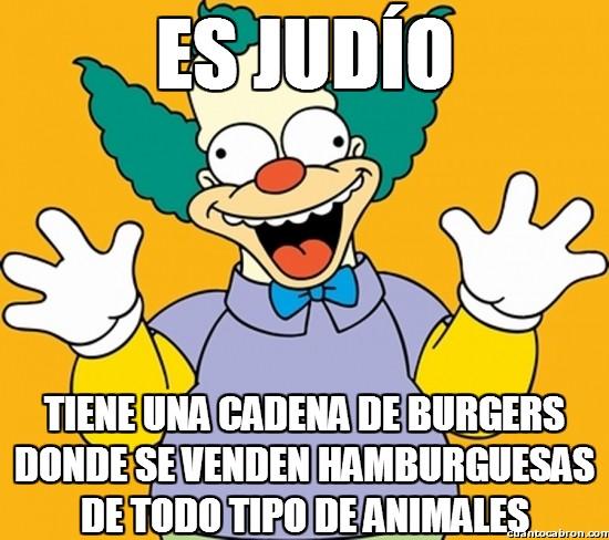Meme_otros - Krusty, el payaso judío más materialista