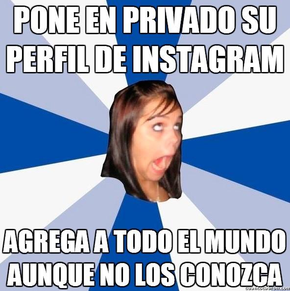 Amiga_facebook_molesta - Perfil muy privado en Instagram
