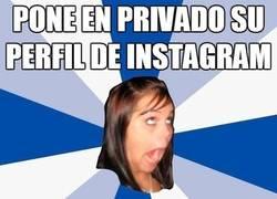 Enlace a Perfil muy privado en Instagram