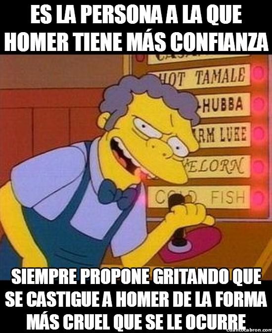 Castigo,Doble cara,Homer Simpson,Moe Szyslak,Propuesta