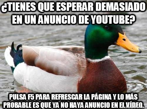 Pato_consejero - ¿Anuncios en Youtube?