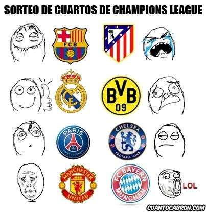 Mix - Y así quedan las cosas en cuartos de la Champions League