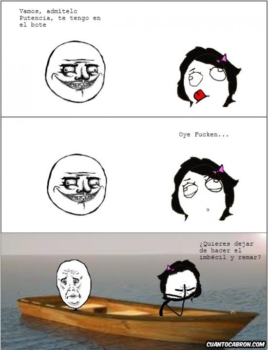 barca,chiste,mar,remar,tener en el bote