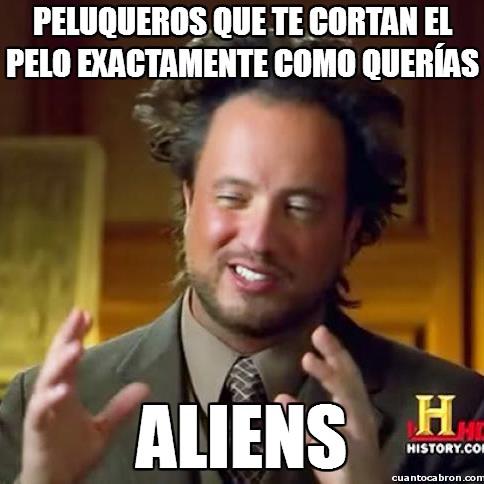 Ancient_aliens - ¿Existen este tipo de peluquerías?
