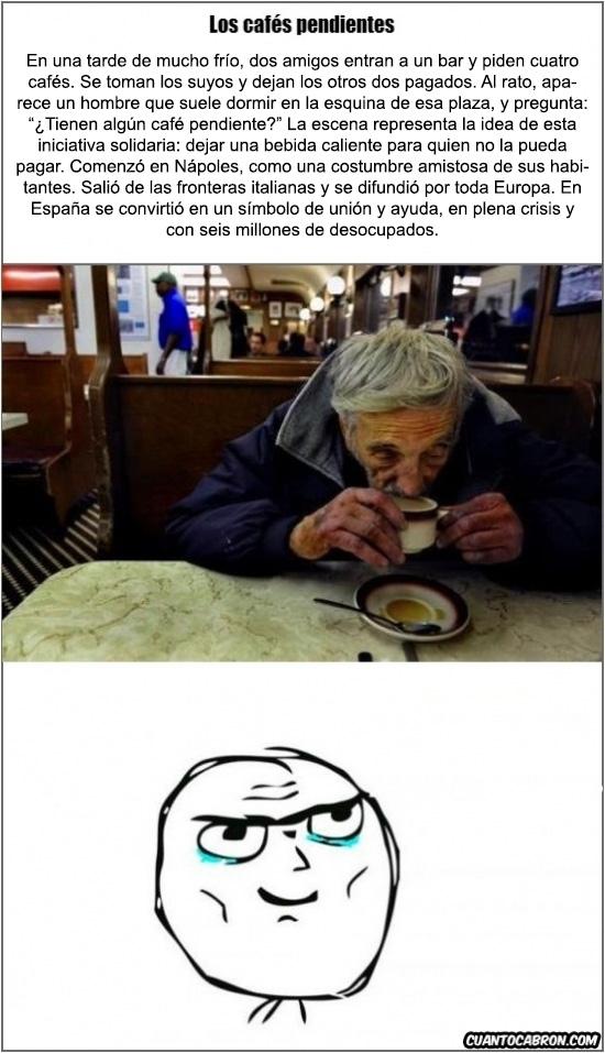 Trollface - Esto no te dejará indiferente ¿Conoces la leyenda de los Cafés Pendientes?