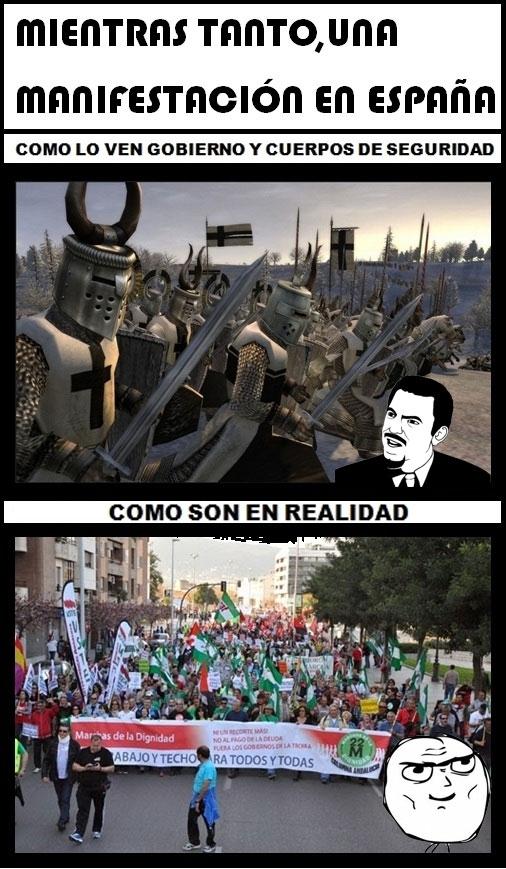 Mix - Manifestaciones en España según...