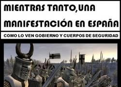 Enlace a Manifestaciones en España según...