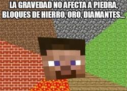Enlace a La gravedad selectiva en Minecraft