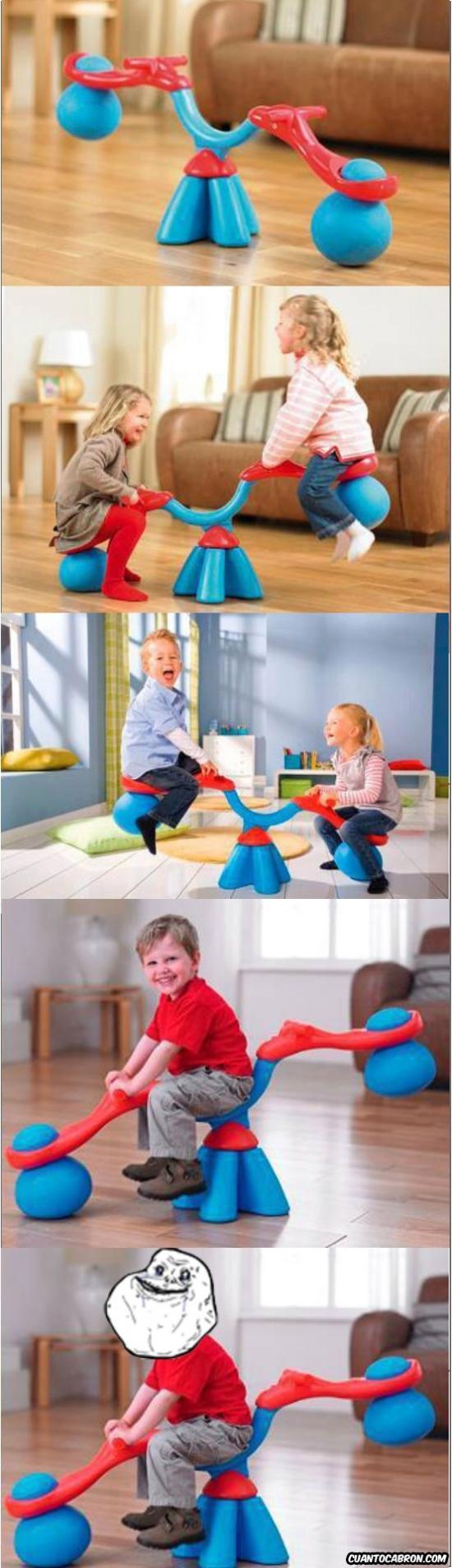columpio,forever alone,juguete,niños