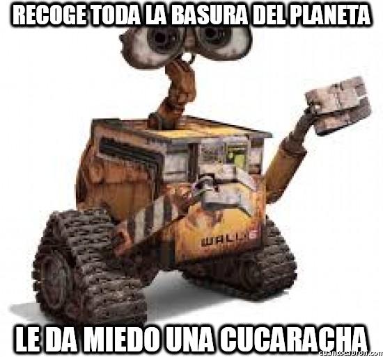 Meme_otros - WALL-E y sus miedos