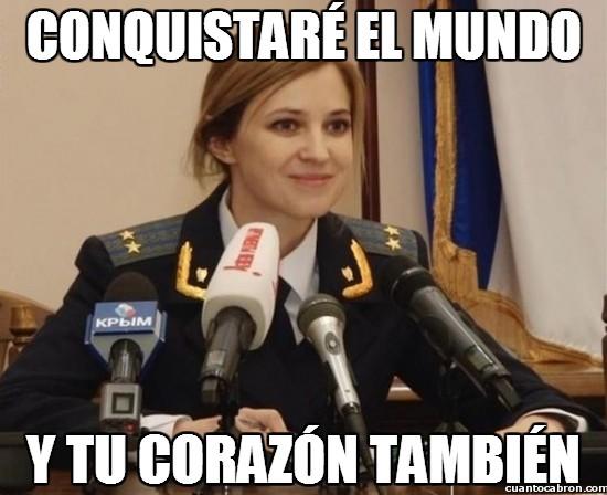 Meme_otros - Todos queremos una ministra como Natalia Poklonskaya