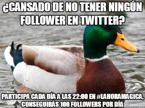 Pato_consejero - ¿Cansado de no tener ningun seguidor en Twitter?
