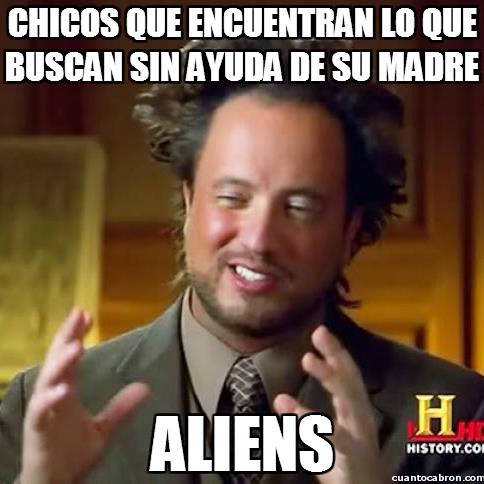aliens,ayuda,buscar,chicos,encontrar,madre