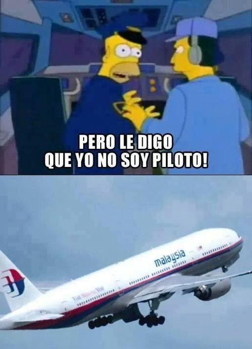 Meme_otros - Ahora ya sabemos qué pasó con el avión de Malysia Airlines