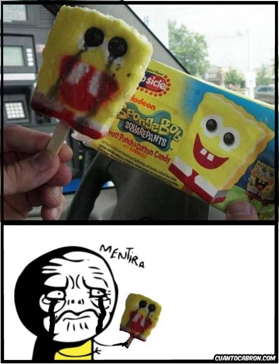 Mentira - La triste realidad de los helados con forma de personaje de dibujos