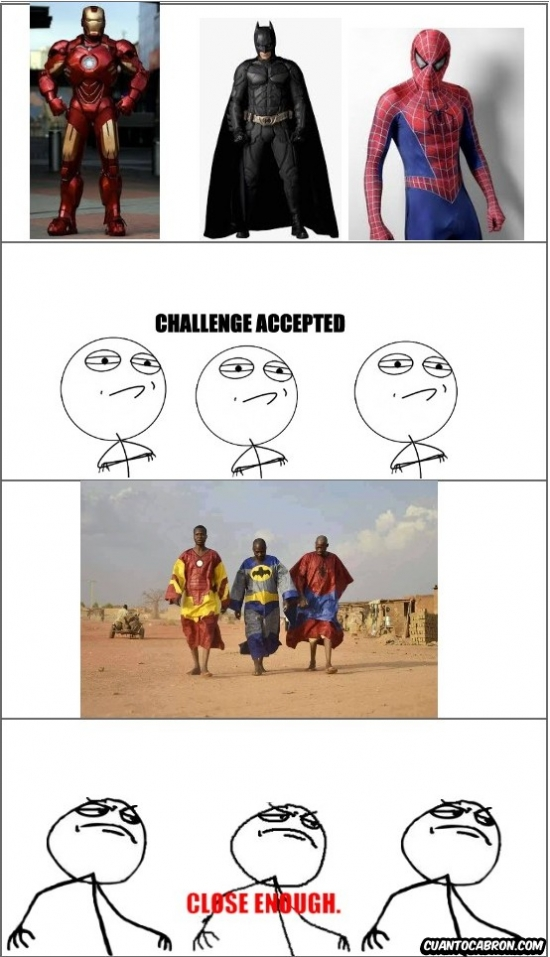 Challenge_accepted - Trajes de superhéroes para gente con pocos recursos
