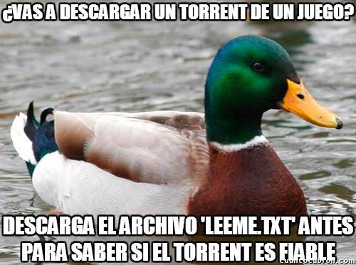 Pato_consejero - El mejor consejo para descargar por torrent