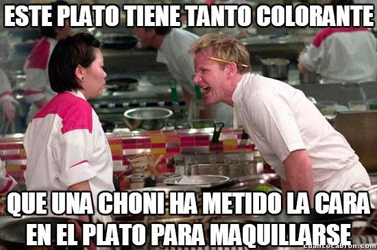 Chef_ramsay - ¡Te has pasado con el colorante en este plato!