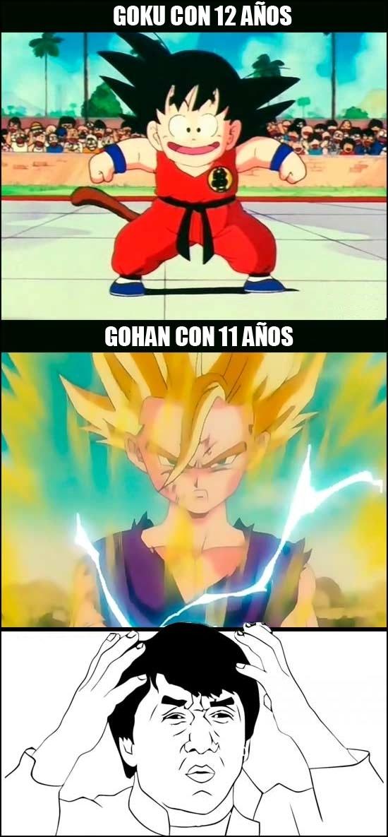 Jackie_chan - Las comparaciones son odiosas, pero si comparamos a Goku con su hijo...