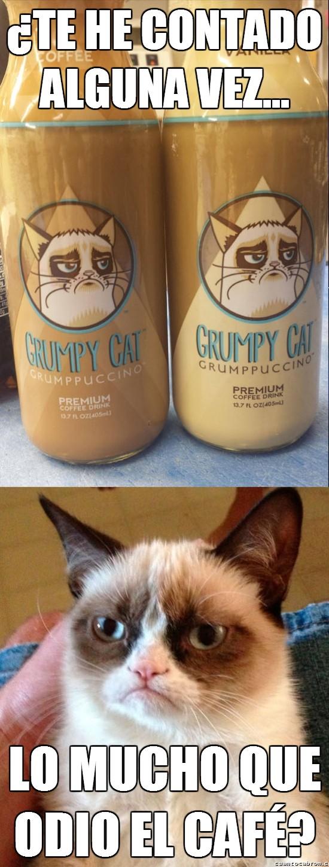 Grumpy_cat - ¿Sabías que Grumpy Cat tiene su propia línea de bebidas de café?