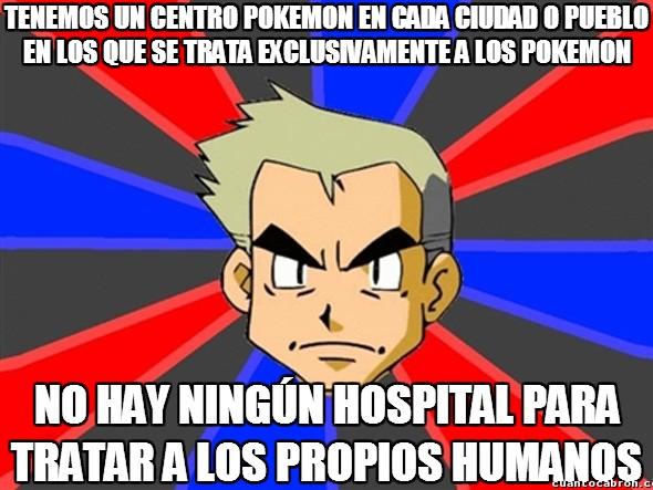 Profesor_oak - En el mundo Pokémon tienen claras sus preferencias sanitarias