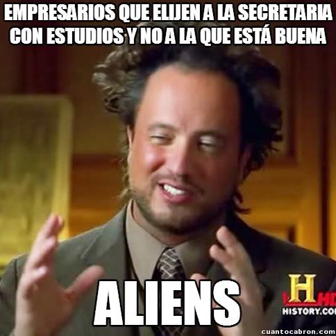 Ancient_aliens - Los criterios de selección de empresarios con sus secretarias