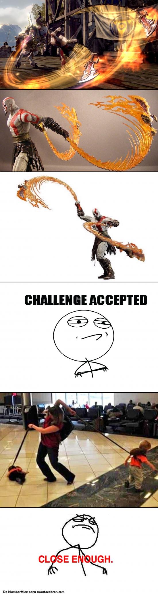 Challenge_accepted - Feel like Kratos, pero en versión paternal