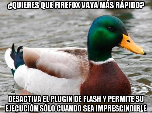 Pato_consejero - Truco para aumentar la velocidad en Firefox