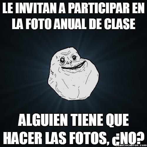 Meme_forever_alone - Participando en la foto anual