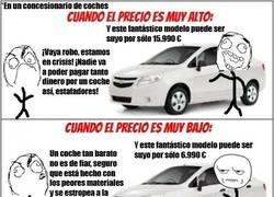 Enlace a Comprando un coche. NUNCA estaremos conformes con el precio