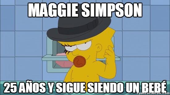 25 años,bebé,Los Simpson,Maggie Simpson