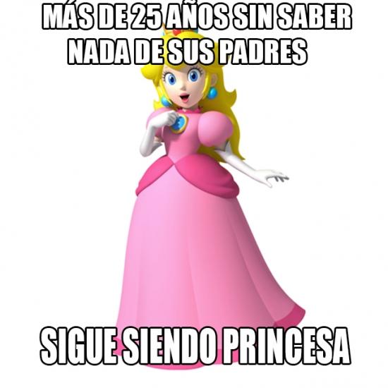 Meme_otros - ¿Nadie ha pensado por qué Peach es princesa si no hay rey?