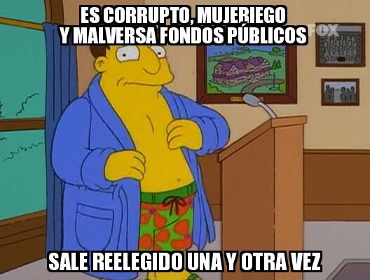 alcalde,España,Joe,Los Simpson,presidente,Quimby,Rajoy