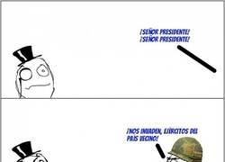 Enlace a Sabiduría presidencial ante la inminente invasión militar