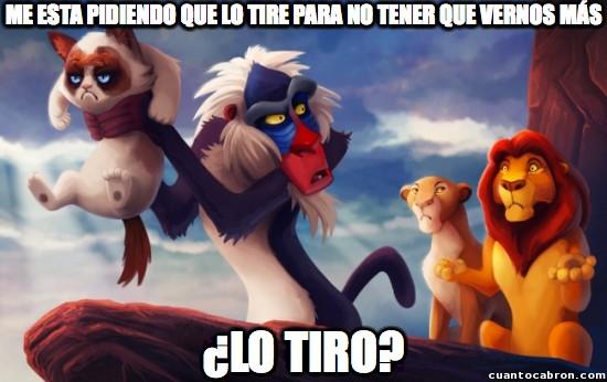 Grumpy_cat - Con Grumpy Simba, El Rey León hubiera sido muy diferente