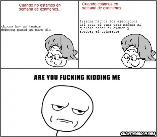 Kidding_me - No sé si los profesores son así de inoportunos o lo hacen a propósito
