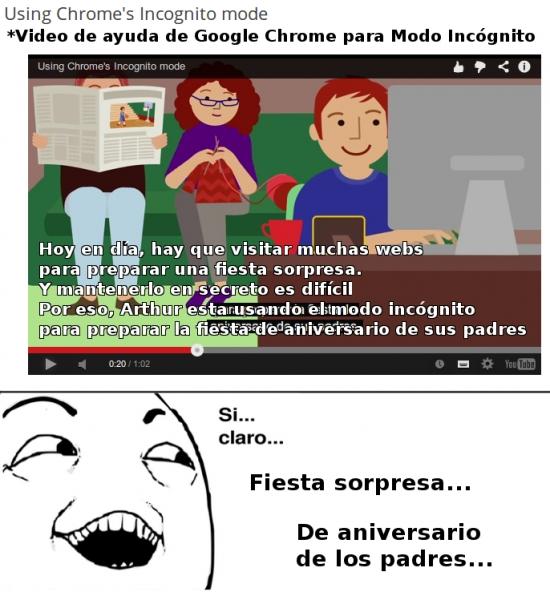 Si_claro - Modo incógnito de Google Chrome que se usa para...