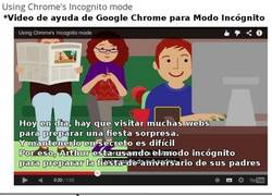 Enlace a Modo incógnito de Google Chrome que se usa para...