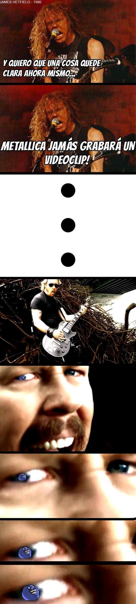 Menti - James Hetfield de Metallica, donde dije digo, digo diego...