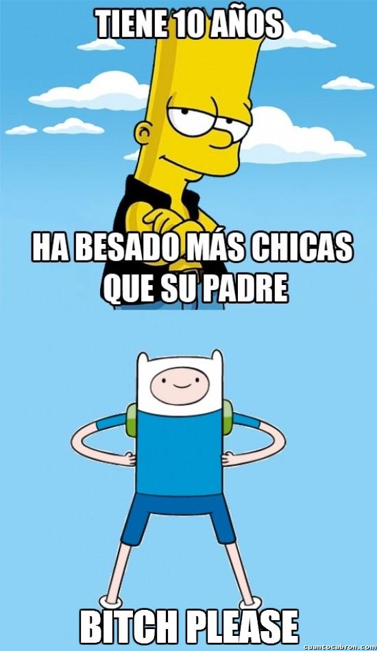 Meme_otros - ¿Bart Simpson un ligón? Ahá, cuéntame más...