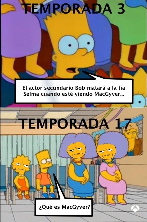 Otros - Esta imagen demuestra que Bart pierde la memoria conforme pasan las temporadas