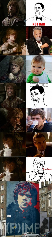 Mix - NUNCA hubieras imaginado como Tyrion de Juego de Tronos podría ser la inspiración de todos los memes